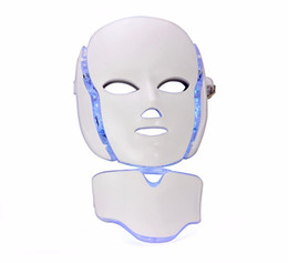 Nueva máscara facial de 7 colores LED con función de microcorriente LED piel rejuvenecimiento facial cuello desde fabricantes