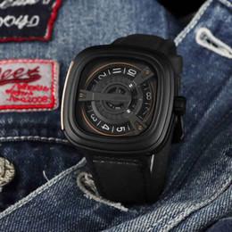 2019 мужские часы черный квадратный циферблат Роскошные мужские спортивные часы дизайнер черный циферблат кожаный ремешок моды для мужчин кварцевые часы часы квадратные мужские случайные часы на открытом воздухе лучший подарок 7 скидка мужские часы черный квадратный циферблат