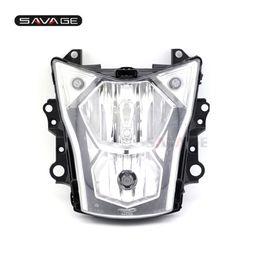 kawasaki er 6n Desconto Lâmpada de cabeça dianteira do farol para KAWASAKI ER-6N ER6N 2012 13 14 15 2016 Acessórios de motocicleta E9 Certification Light Assembly