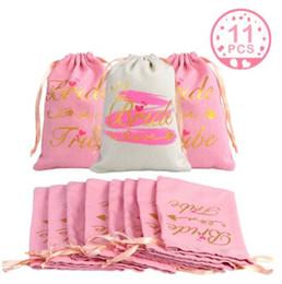 bolsas de regalo de boda para invitados Rebajas 11pcs nupcial favor de la ducha regalos de la bolsa huésped del partido de Bachelorette de la resaca del kit Bolsas de dama regalo resaca decoración de la boda