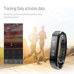 telefon wecker Rabatt Neues intelligentes Armband-Eignungs-Verfolger-Schritt-Zähler-Tätigkeits-Monitor-Band-Wecker-Erschütterungs-Manschette ID115 für iphone Android-Telefon