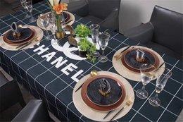 2019 großhandel runde tischdecken Stilvolle gedruckte karierte Tischdecke Neue Luxus-Tischdekoration Baumwolle und Leinen wasserdichte Tischdecke für alle Jahreszeiten