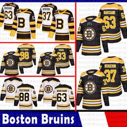 jersey di ghiaccio nero di fil kessel Sconti Boston Bruins 33 Zdeno Chara Hockey Maglie 37 Patrice Bergeron 63 Brad Marchand 88 David Pastrnak 4 Bobby Orr Jersey 2018 2019 Nuovo