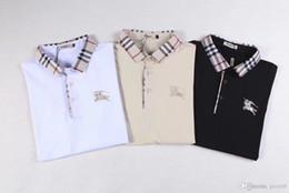 Mejores camisas de marca para hombres online-BEST Spring luxurys diseñadores de camisetas italianos camisa polo calle alta calcetines bordados vestido estampado polo de la marca de los hombres