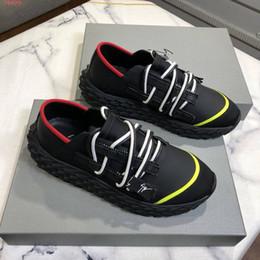 Hot Luxury suela espinada Zapatos casuales para hombre Zapatillas de deporte Urchin doble cremallera con cordones de lana tejidos de moda Zapatillas de colores mezclados con caja desde fabricantes