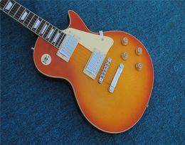 Guitarra mogno laranja on-line-Frete Grátis, padrão 1959 r9 guitarra elétrica laranja painel de mogno Rosewood fingerboard Mahogany prancha verso