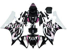2019 kit de carenagem rosa yamaha (Molde de injeção) Novo estilo ABS Carenagens Completas Kit Fit Para Yamaha YZF-R6 R6 2006 2007 06 07 Carenagem Carroçaria conjunto preto Rosa desconto kit de carenagem rosa yamaha