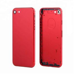 Canada Couleur rouge Pour iPhone 6 6 Plus 7 7 Plus Couvercle complet de la batterie Couverture arrière Cadre central + Boutons latéraux + Plateau de carte SIM DHL Offre