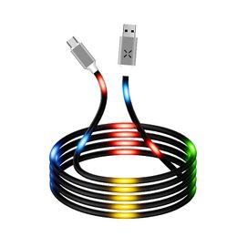 Micro luces online-Control de sonido inteligente Luminoso LED Encendido Micro USB Flash del cable de sincronización de datos de carga rápida para Samsung S8 S9 plus note 8 9 Celulares tipo C