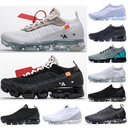 2019 Классический Off-W Fly 1.0 2.0 3.0 Вязать Флагманская Обувь MenWomen Тройной Белый Черный Серый Вязание Тренеры Модельер Кроссовки от