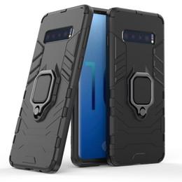 Manzana pantera online-Para Samsung S10 caja del teléfono celular panther ring s10plos anti-caída soporte coche Apple manga protectora explosivo