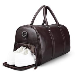 Couro mochila fim de semana on-line-Nova Marca de Moda Extra Grande Weekend Duffel Bag Grande 100% de Couro Genuíno dos homens de Negócios Saco de Viagem de Luxo Design Duffle