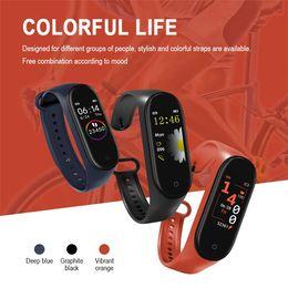 женские спортивные часы шагомер Скидка M4 смарт-часы водонепроницаемый смарт-браслет смарт-браслет женщины мужчины монитор сердечного ритма Bluetooth Smartband шагомер спорт Фитнес-Группа