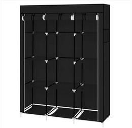 2019 affiche de vêtements de fer Organisateur de rangement portatif de 67 po pour rangement de garde-robe avec 10 tablettes Rapide et facile à monter, espace supplémentaire Noir