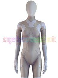 criando roupas para crianças Desconto Fantasma zentai na Shell Major Cosplay Traje 3D Spandex Fantasma no Superhero Shell Zentai Terno Para Adulto / Crianças / Custom Made