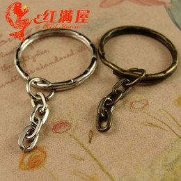 Bronzo bronzo anello chiave online-A3968 25 * 49 MM mano gioielli fai da te all'ingrosso bronzo antico placcato anello chiave spaccata per portachiavi, accessori di componenti dei monili accessori