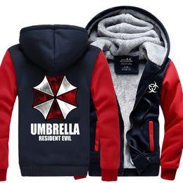 Resident Evil Umbrella Felpe 2017 inverno nuovo caldo pile Anime felpe uomini ombrello di alta qualità uomini M-4X cheap evil hoodie da cattiva felpa fornitori