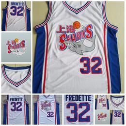 Mens 32 Jimmer Fredette Shanghai Sharks Pullover di pallacanestro di film universitari Fredette Jersey dell'università universalmente cucita bianca comperata da