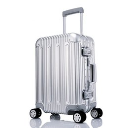 suitcase spinner Promo Codes - All Aluminium alloy Luggage Hardside Rolling Trolley Luggage travel Suitcase 20 Carry on 25 29 Checked