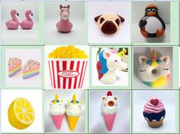 Toast phone on-line-Kawaii Squishies fruit Bun Torrada Pão Donut para o telefone pingente chaveiros misturados Squishy lento rebote brinquedos C3129