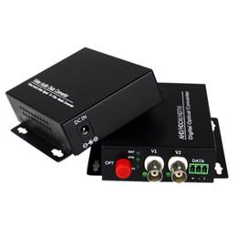 Vídeo de fibra óptica on-line-Vídeo HD 1080p AHD CVI TVI Conversor óptico de fibra, transmissor de fibra óptica de vídeo 2 canais, único modo 20KM
