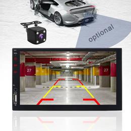 "pantalla táctil de radio crda honda Rebajas 2 din car radio 7 ""HD Touch Screen Player car dvd mirrorlink Android 9 Iphone MP5 / SD / FM / MP4 / USB / AUX / Bluetooth Car Auto Audio para cámara"