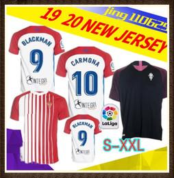 Camisas personalizadas dos esportes on-line-S-XXL19 20 Gijon Casa Fora De Futebol Vermelho Jersey 2019 2020 Sporting Gijon Personalizado Estrela # 7 Santos # 10 Carmona # 14 Garcia Camisa De Futebol