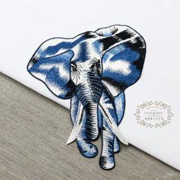Remendos de costura manual on-line-20191003 Lace pano elefante, vestuário animal, de volta decoração bordados, patches de costura à mão costura DIY.