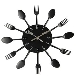 Led Lamps 1piece Fork Knife And Spoon Cutlery 3d Silhouette Modern Wall Light Vinyl Record Wall Clock Kitchen Utensil Decor Led Night Lamp With A Long Standing Reputation
