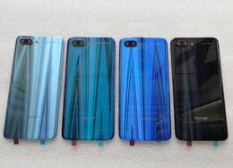 Nueva cubierta trasera de vidrio templado 3D para Huawei Honor 10 piezas de repuesto cubierta de la batería cubierta de la puerta + flash + lente de la cámara desde fabricantes