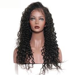 Derin Dalga İnsan Saç Peruk ağartılmış Knots Dantel Frontal Peruk Brezilyalı Hint Malezya% 100 İnsan Saç Doğal Renk 10-28inch nereden uzun saç peruk malezya tedarikçiler