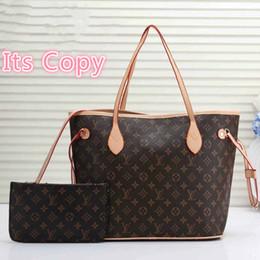 Nuova vendita L pelle Lettera NEVERFULL borsa di modo delle donne Borsa Rosa Marrone Vecchio Fiore stampa borsa Borse Ragazze Shopping Bag