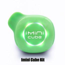 Argentina 100% original Imini Cubo Kit 550mAh Batería de voltaje variable VV Caja Mod Con 1,0 ml Bobina de cerámica Aceite grueso Cartucho completamente oculto Auténtico Suministro