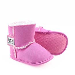 Estrella zapatos niño online-Zapatos de bebé recién nacido Niño Niña Patrón estrella del corazón Los niños primeros caminante niños atan para arriba las zapatillas de deporte de la PU 0-18 Meses