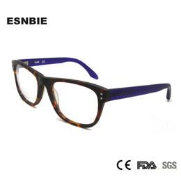 3891e64d8f3 ESNBIE Acetate Eyeglass Frame Eyewear Frames Male Eye Glasses Frame For  Women Oculos De Grau Myopia Glasses Diopter Clear Lens
