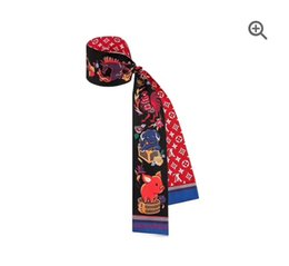 Zwillingsschals online-Mode Neue Twill Seide Kleine Frauen Mode Schal Haar Taschen Griff Dekoration Krawatte Multifunktions Band Schal