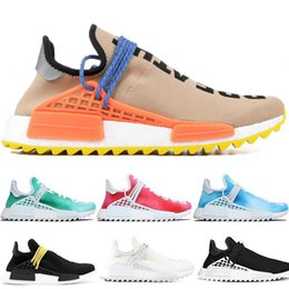 Porcellana di formato del pattino delle donne online-Scarpe da corsa trail Human Top Pharrell Williams Uomo Donna Passione Giallo Nero Bianco Scarpe da corsa China Run Sport taglia 36-47 all'ingrosso