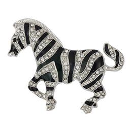 2020 jóias zebra Coreano Moda Rhinestone Zebra Figura lenço pin broche Titular Mulheres Homens Jóias jóias zebra barato