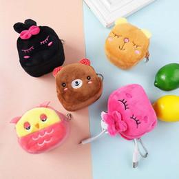Piccolo panda panda online-New Baby Children Piccola borsa Duck Frog Panda Animali Cartone animato Super soft Plush Coin Bag Giocattoli Regali