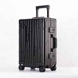 Rueda de rollo online-Cuento de viaje 100% aleación de aluminio y magnesio Rolling Equipaje Spinner Hombres Negocios Maleta Ruedas 20 pulgadas Cabina Trolley Bolsa de viaje