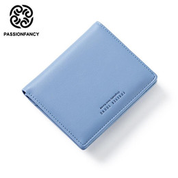 ladies small wallet Promo Codes - Wallet Women Lovely Leather Zipper Fashion Lady Women Wallets Small Solid Color Change Purse Hot Female Clutch carteira feminina