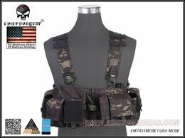 Chaleco negro airsoft online-EMERSON UW Gen V Split Frente Pecho Rig Chaleco Airsoft Military Combat Gear Multicam Negro EM7451MCBK # 232187