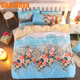 camas baixas baratas Desconto Svetanya Floral conjunto de Lençóis de cama Lençol Fronha / Edredão / Edredão / Edredão set Capa de Linho barato
