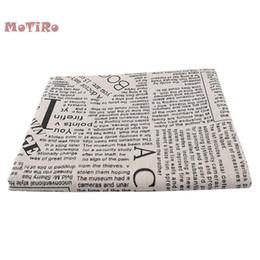Motiro, impressos de algodão de linho para o medidor, pano de jornais e revistas para o acolchoado / costura / Sofá / Tabela / Cortina / Saco / Almofada / tecidos / Saco / tampa de