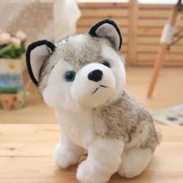 Husky di simulazione di 20 cm bambola carina bambola peluche cucciolo di cane, due bimba piccola regalo di Natale per il regalo di compleanno del bambino da