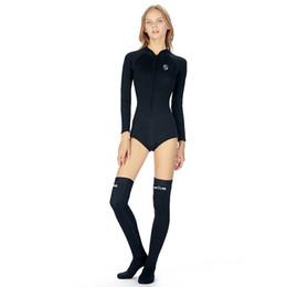 Güzel Stil Tek parça Bikini Çabuk kuruyan Dalış Mayo 2mm Sıcak Uzun Tüp Dalış Çorap Sörf Dalış Takım çin'de Yapılan nereden islak görünümlü iç çamaşırı tedarikçiler
