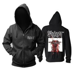 2019 sweat à capuche zippé zombie panda Slipknot Tous Out Life album Alternative Metal noir à capuche zipper promotion sweat à capuche zippé