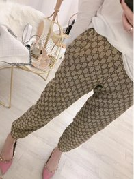 Cintura elástica calças longas on-line-19ss mulheres Calças Moda feminina Esportes Calças Basculador Longo Elástico Na Cintura Calças Pantalones