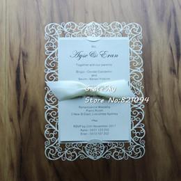 disegni di fiori di taglio di carta Sconti 30pcs Nuovo Laser Cut Flower Love Heart Design Paper Save The Date Biglietti invito a nozze Rsvp senza nastro Y19061704