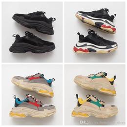 7b7c818b 2019 Fashion Paris 17fw Triple S Sneakers Triple-s Casual Dad Mens Designer  Shoes For Women Beige Black Cheap Sports Trainers Chaussures